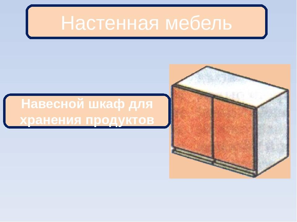 Настенная мебель Навесной шкаф для хранения продуктов