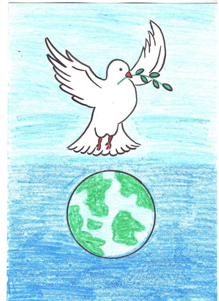 Веселые, рисунок за мир во всем мире