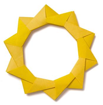 Как сделать рамку из оригами