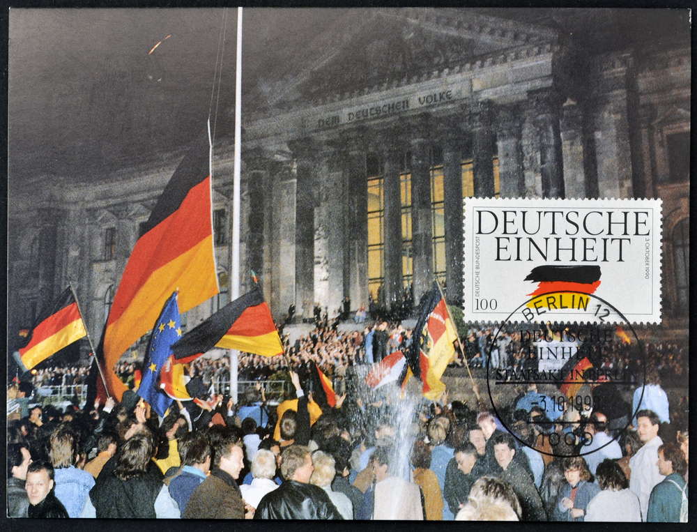 the reasons of the german reunification German reunification (deutsche wiedervereinigung) took place on october 3, 1990, when the areas of the former german democratic republic (gdr, in english commonly called east germany) were incorporated into the federal republic of germany (frg, in english commonly called west germany.