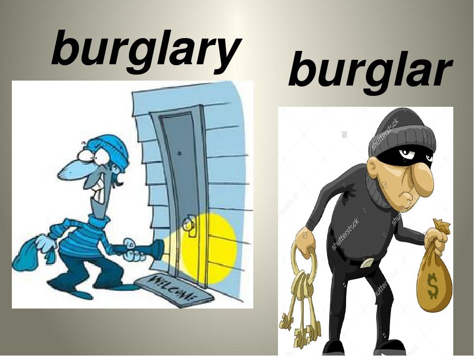 burglary burglar