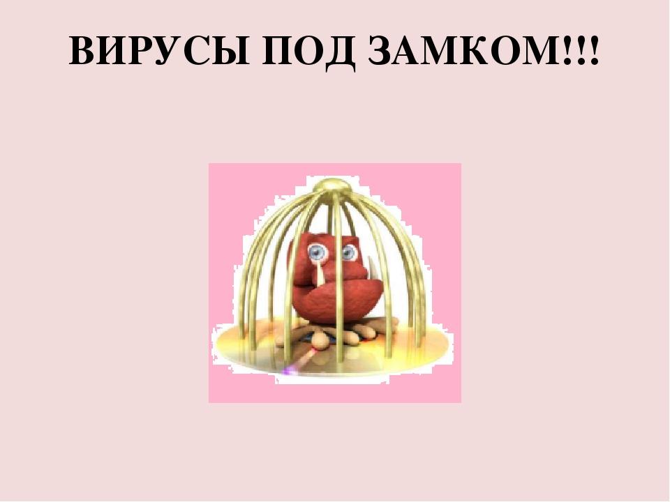ВИРУСЫ ПОД ЗАМКОМ!!!
