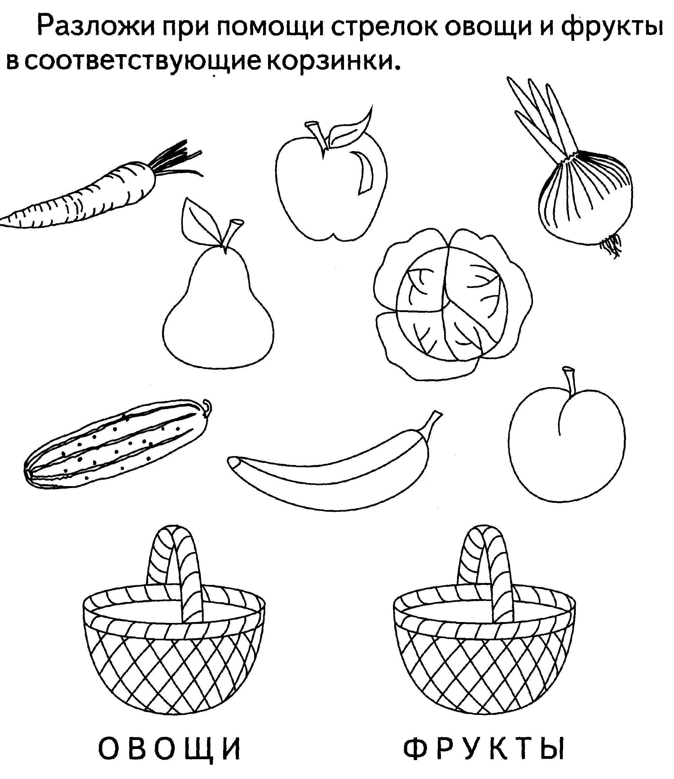 Картинки с заданием на тему фрукты
