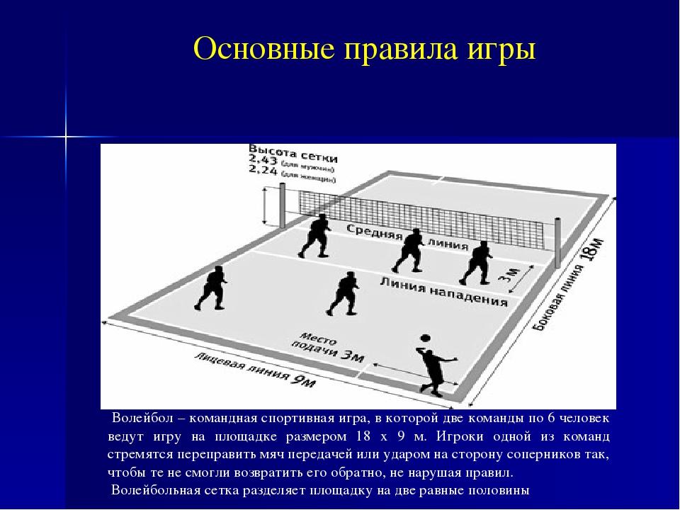 правила волейбола с картинками можно сделать при