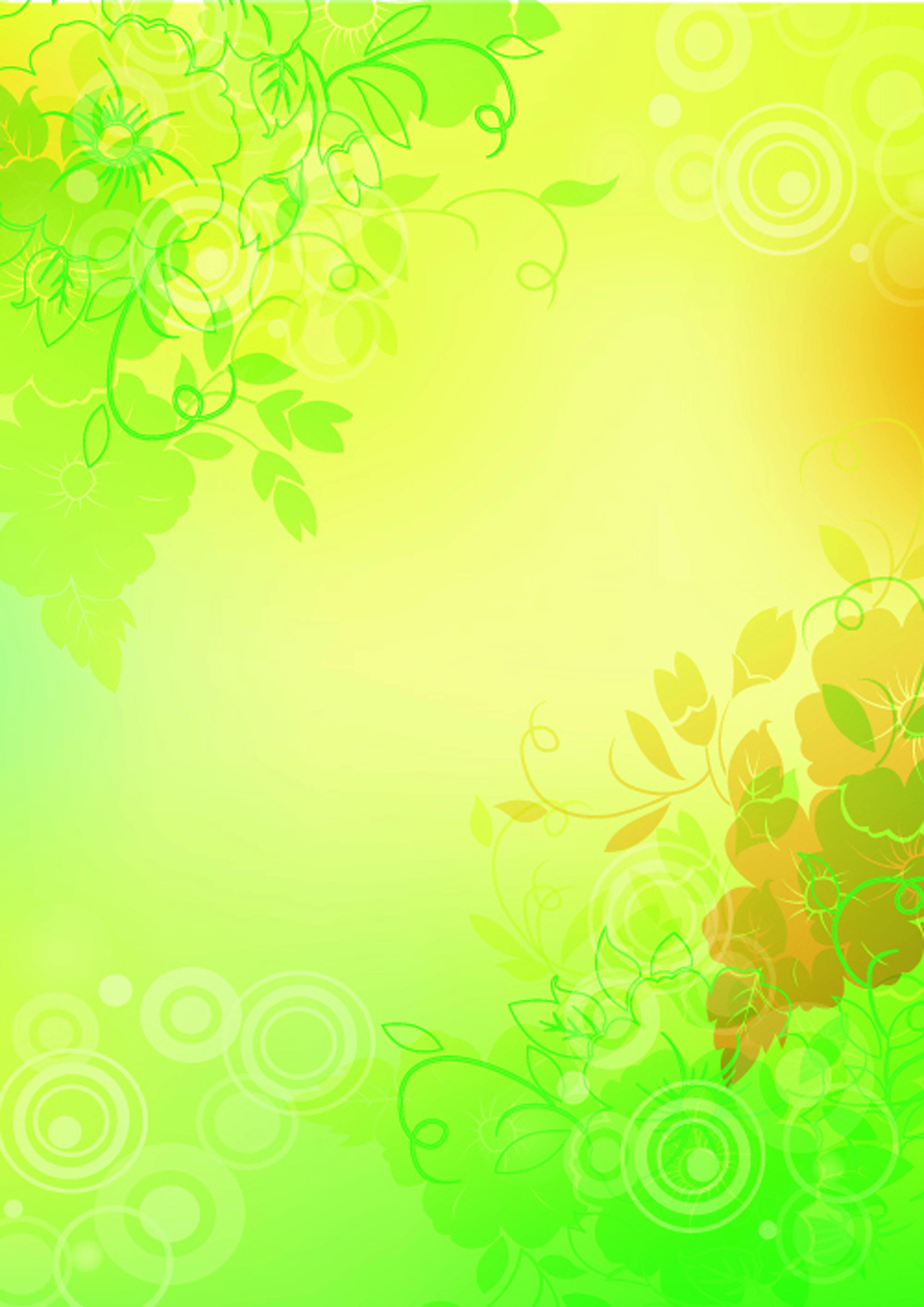 Красивую музыкальные, желто-зеленый фон для открытки