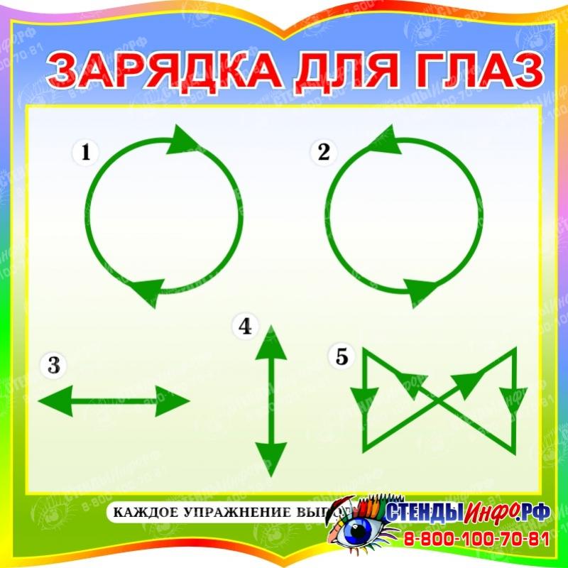 Гимнастика для глаз в картинках для дошкольников