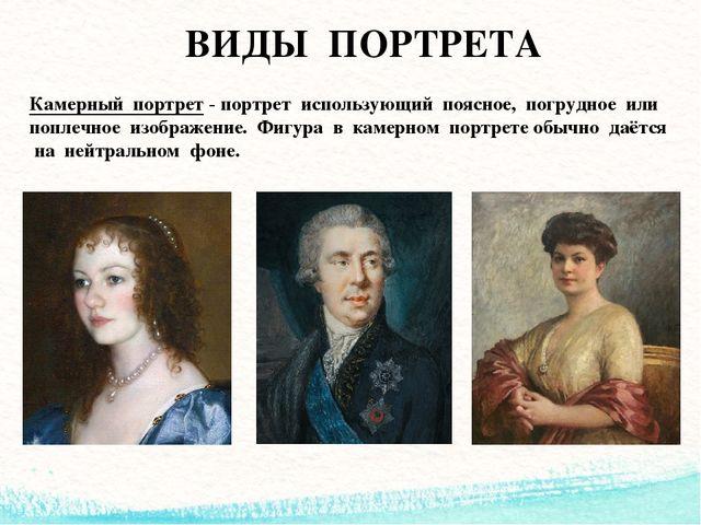 виды портретов в фотографии