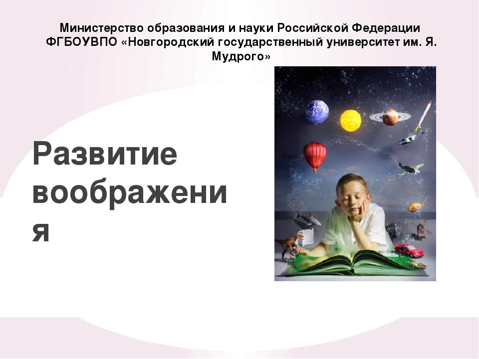 Министерство образования и науки Российской Федерации ФГБОУВПО «Новгородский...
