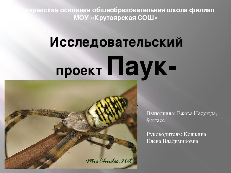 Токаревская основная общеобразовательная школа филиал МОУ «Крутоярская СОШ» И...