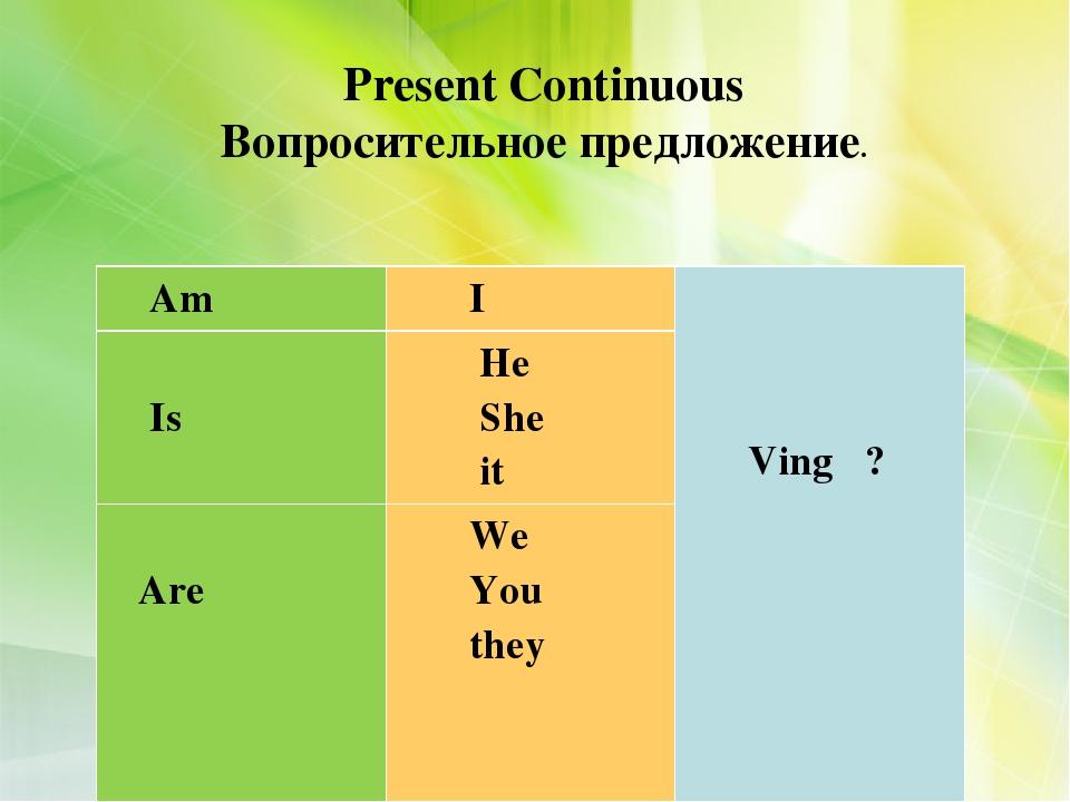 Спряжение глаголов в Present Simple и Present Continuous