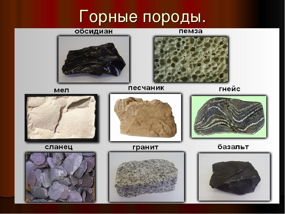 фото минералов и горных пород с названиями самоназвание