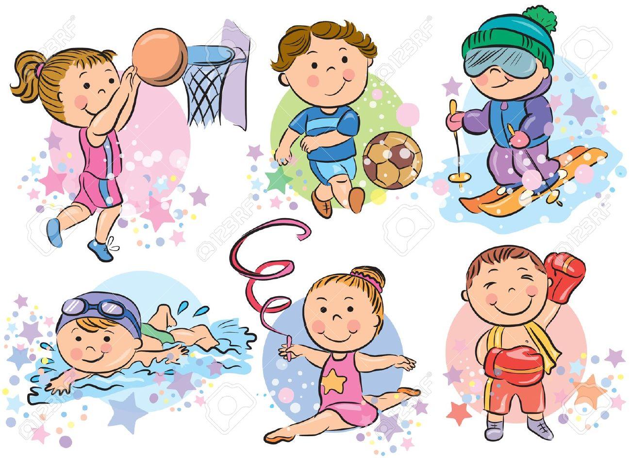 Kids sports clip art