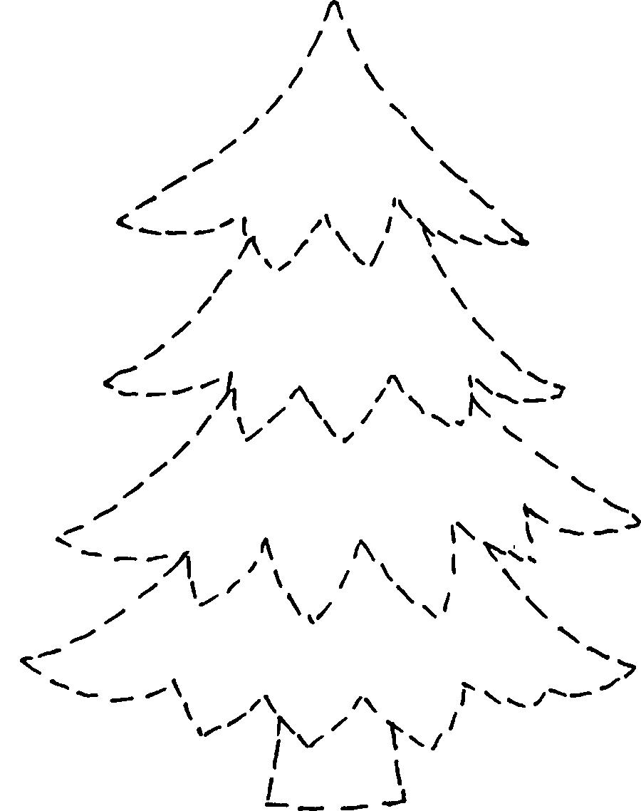 Картинки елок трафареты