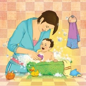 делают картинка мама моет малыша этого девушки