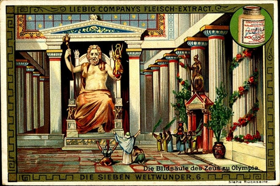 Третье чудо света статуя зевса в олимпии