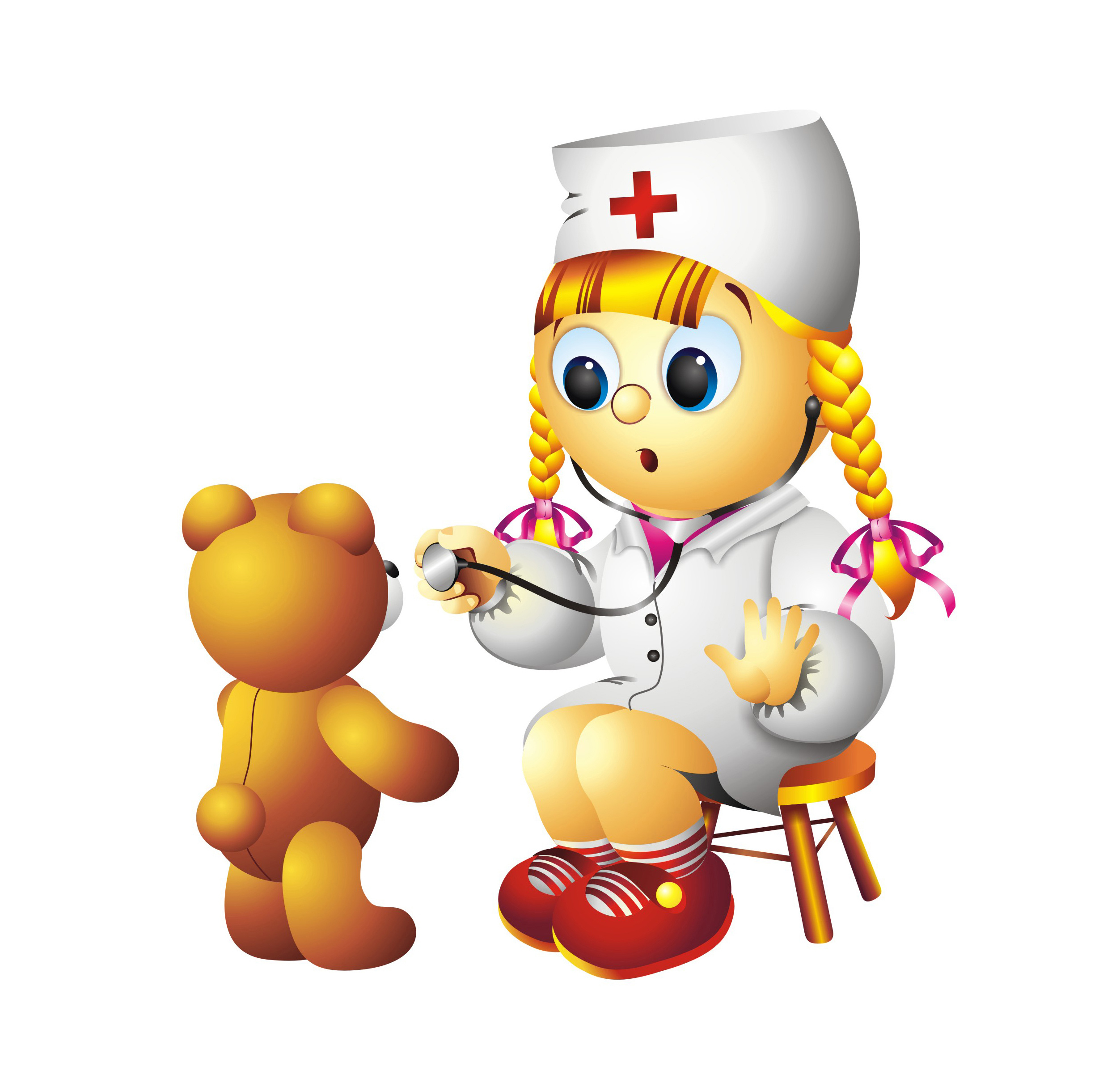Картинка медицинской сестры детского сада, поздравлением