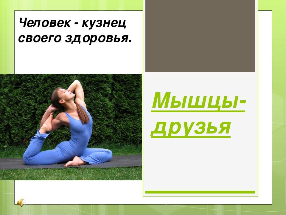 Мышцы-друзья Человек - кузнец своего здоровья.