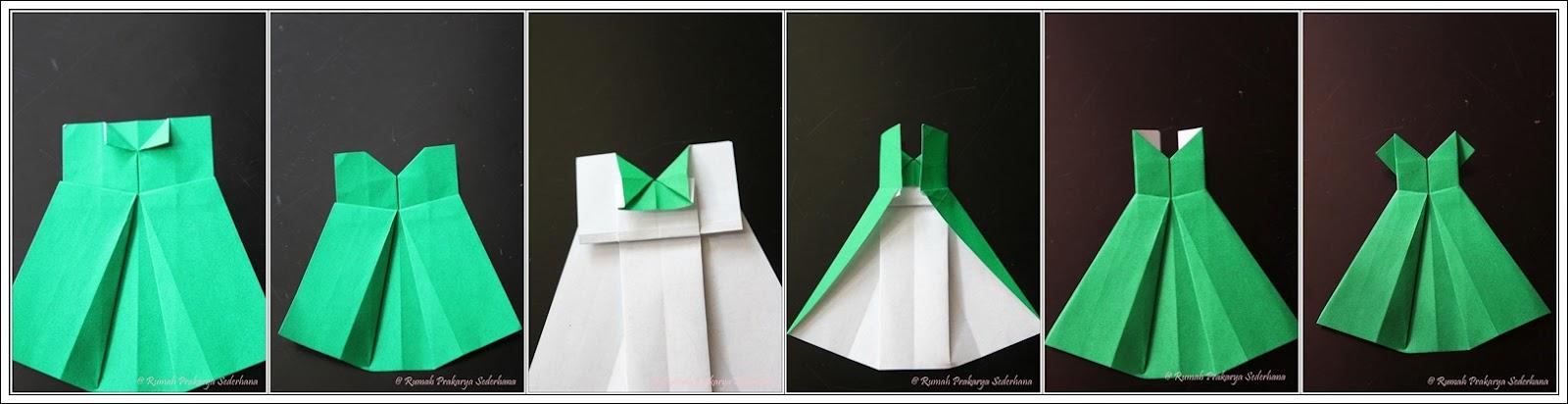 Платье открытка оригами видео