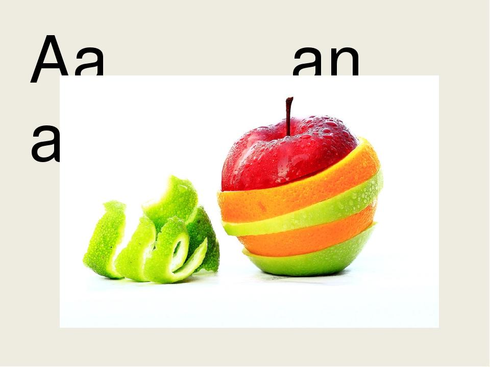 Aa an apple