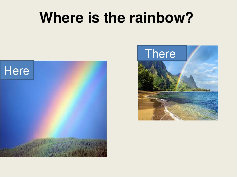 Where is the rainbow? Here There
