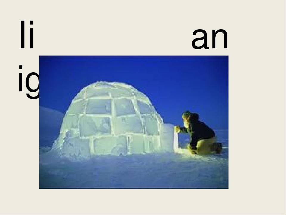 Ii an igloo