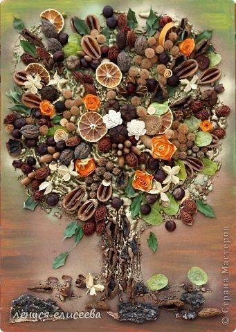 Картины на осень из подручных материалов