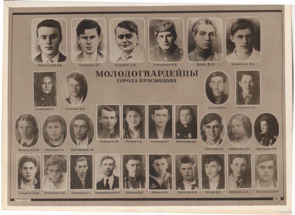 Молодая гвардия сайт о героях краснодона