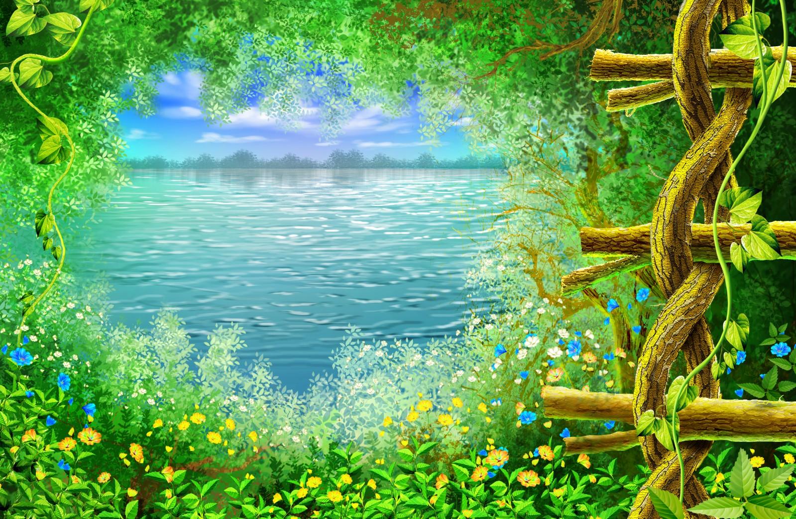 Шаблоны открыток о природе