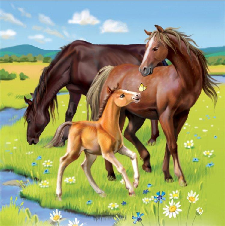 Семьи животных для детей картинки