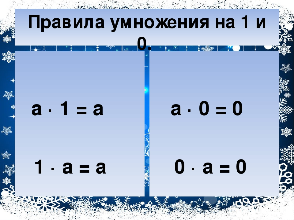 Правило умножения на нуль картинки