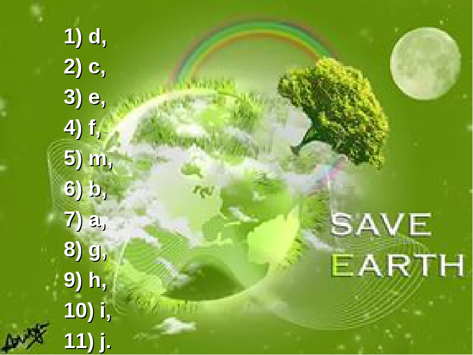 how to save the earth