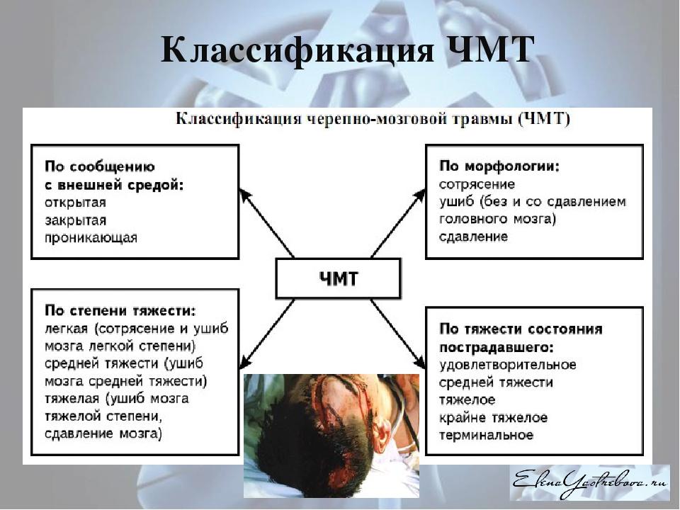 курсовые работыпомедицине черепно-мозговая травма