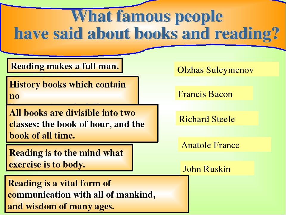 reading makes a full man essay
