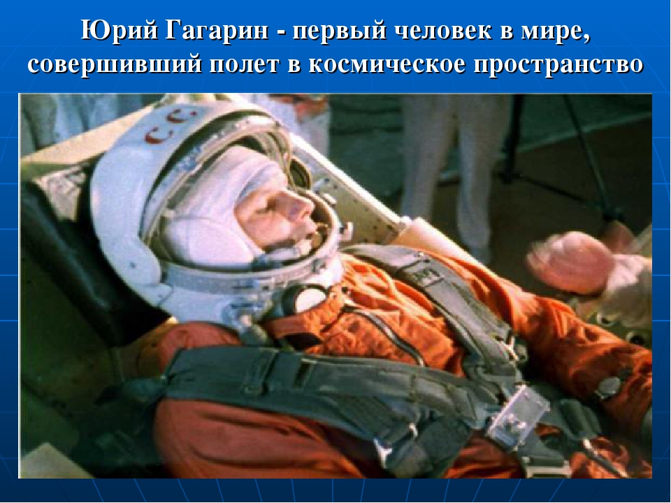 Юрий Гагарин - первый человек в мире, совершивший полет в космическое простра...