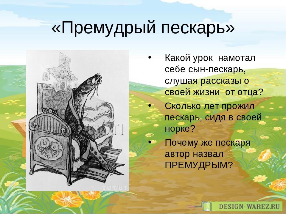 «Премудрый пескарь» Какой урок намотал себе сын-пескарь, слушая рассказы о св...
