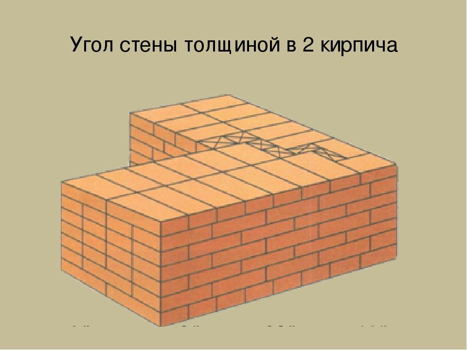 кладка стен в 2 кирпича