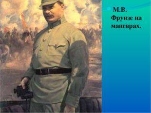 М.В. Фрунзе на маневрах.