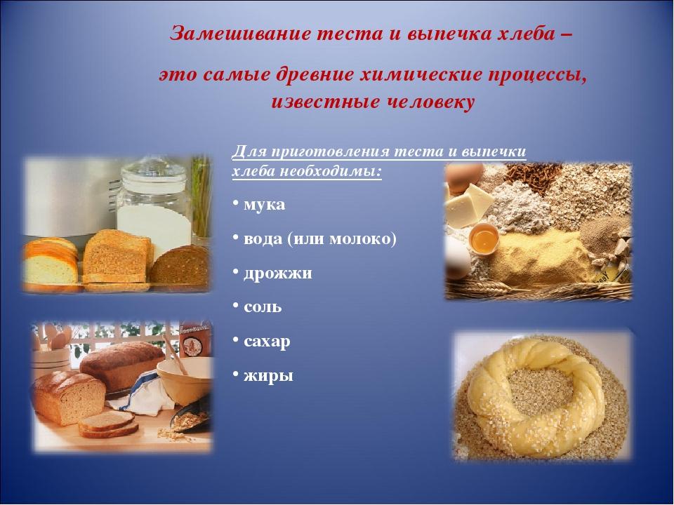 Приготовление хлеба картинки для презентации