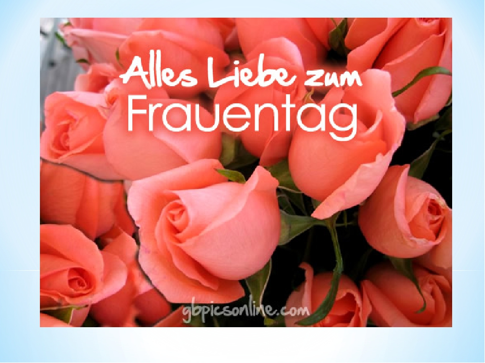 Открытка на немецком языке на 8 март, смешные
