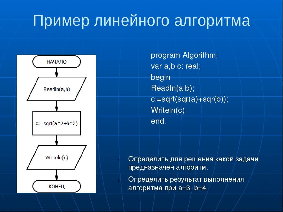 Задачи по теме линейные алгоритмы с решениями задачи с решением налогам