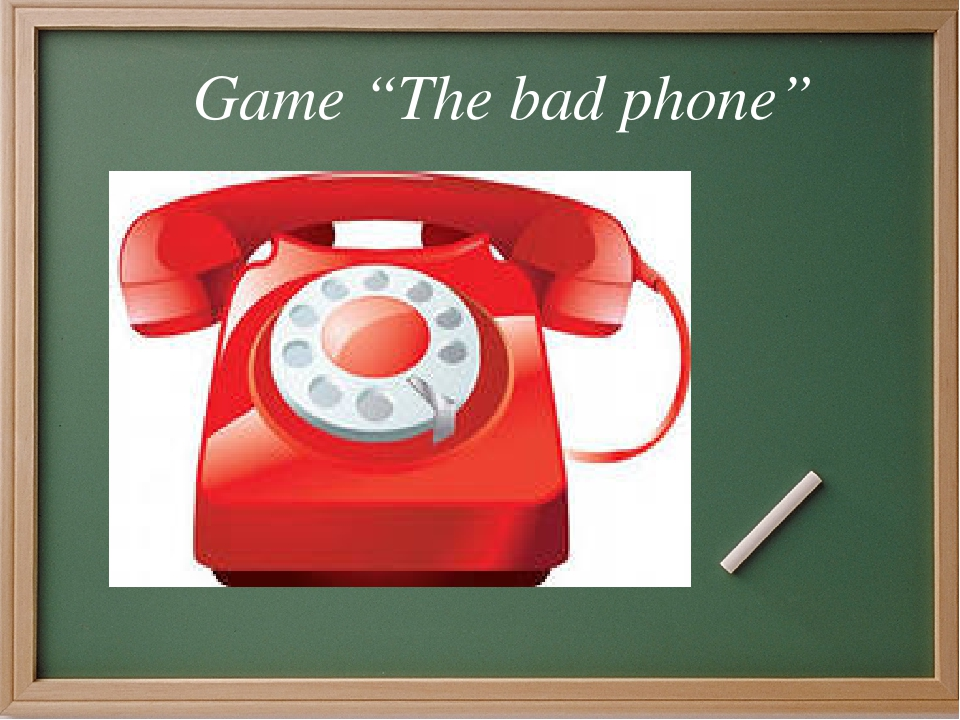 "Game ""The bad phone"""