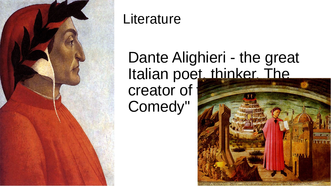 a biography of dante alighieri an italian poet Dante alighieri • dante alighieri (noun) the noun dante alighieri has 1 sense: 1 an italian poet famous for writing the divine comedy that describes a journey through hell and purgatory and paradise guided by virgil and his idealized beatrice (1265-1321).