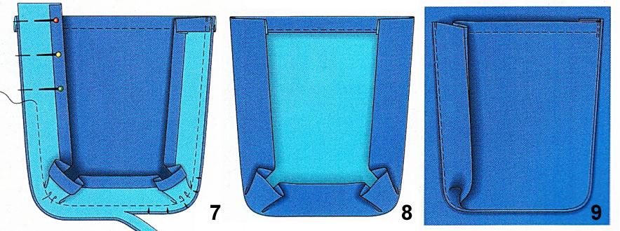 Прорезной карман в рамку с клапаном