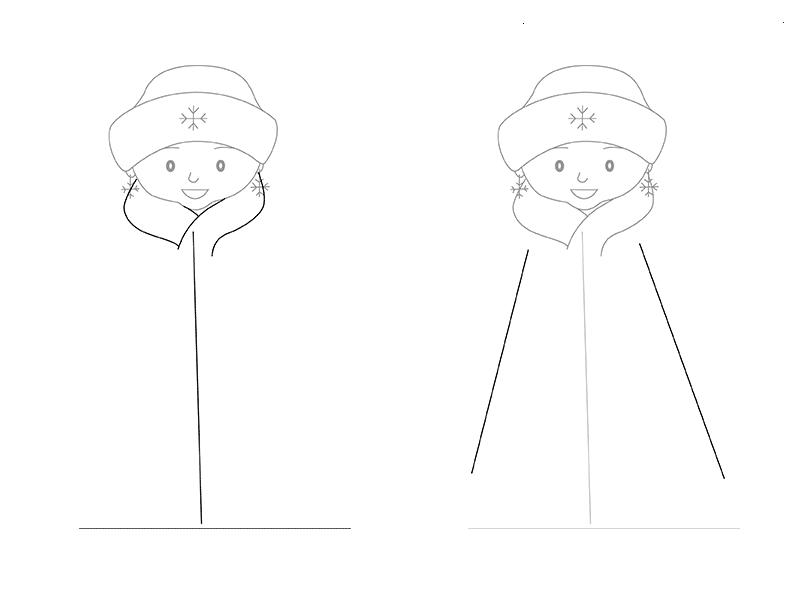 Дед мороз и снегурочка рисунок карандашом поэтапно для начинающих города произошло