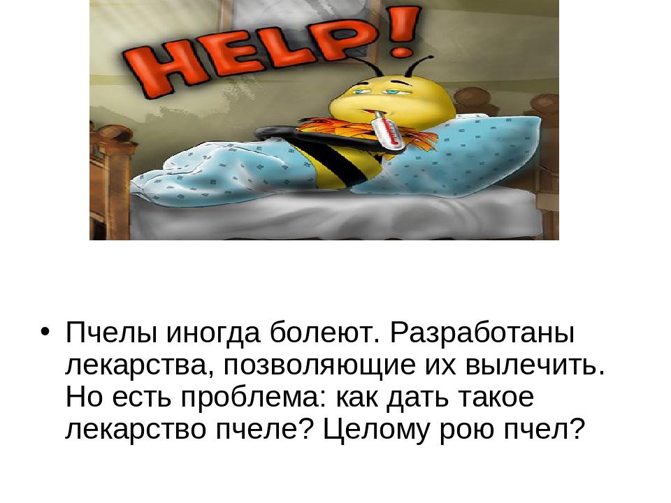 Пчелы иногда болеют. Разработаны лекарства, позволяющие их вылечить. Но есть...