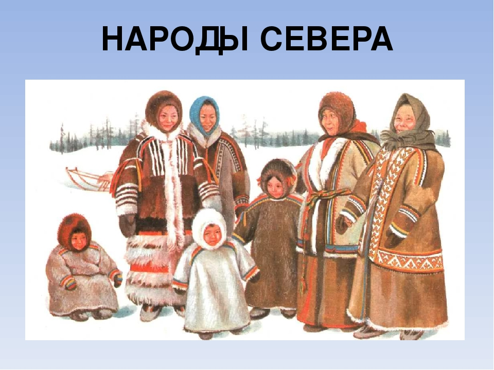 Жители севера картинки для детей с названиями