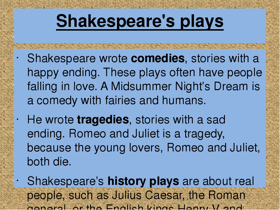 an overview of shakespeares plays with similar comedic characteristics We provide excellent essay writing service 24/7 enjoy proficient essay writing and custom writing services provided by professional academic writers.
