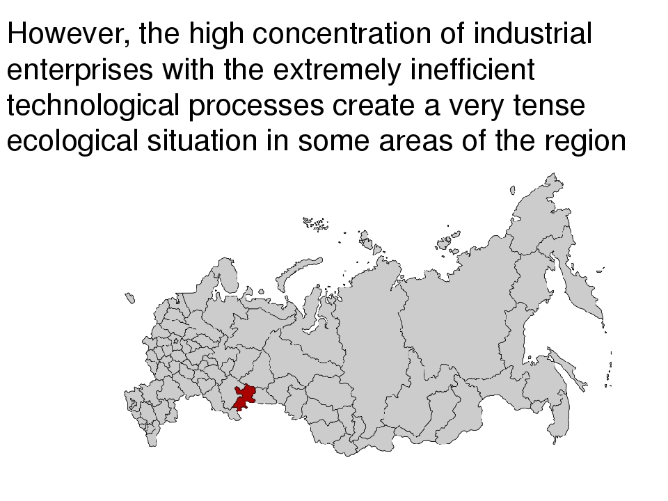 However, the high concentration of industrial enterprises with the extremely...