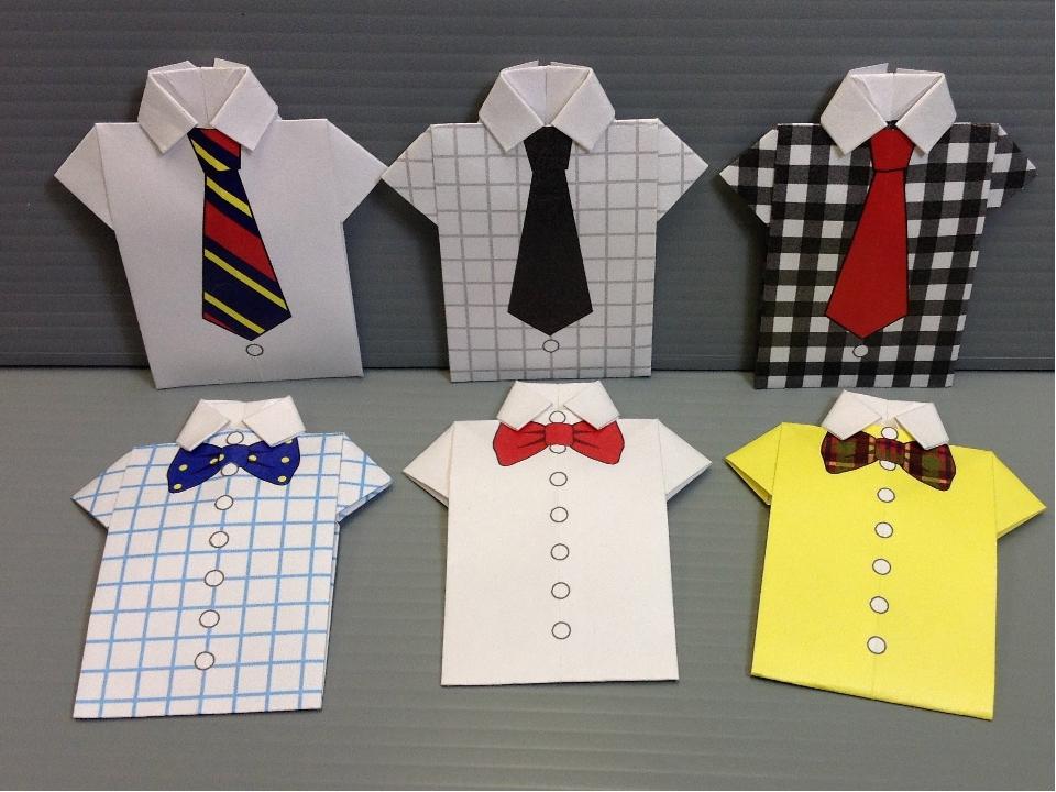 Открытки в виде рубашки на 23 февраля, для ребенка мая