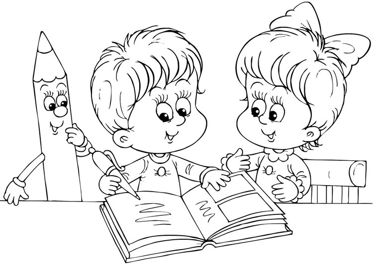 Картинки про школу для детей черно белые, оптом казань говорящая